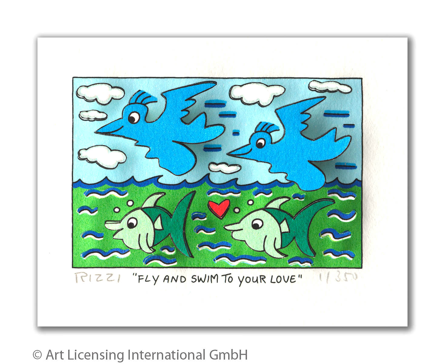 James Rizzi - Fly and Swim to your Love
