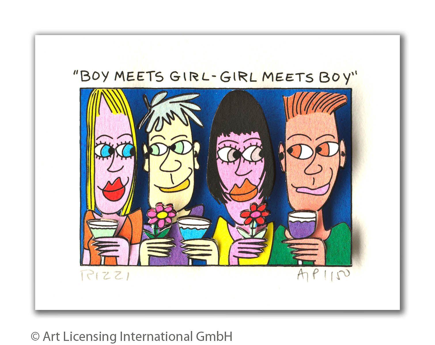 James Rizzi -  BOY MEETS GIRL - GIRL MEETS BOY