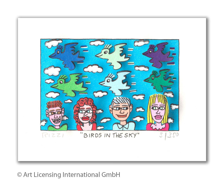 James Rizzi -  BIRDS IN THE SKY