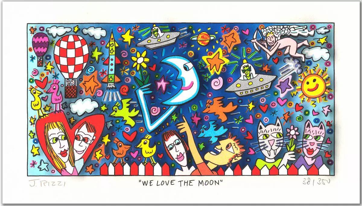 James Rizzi - We love the Moon