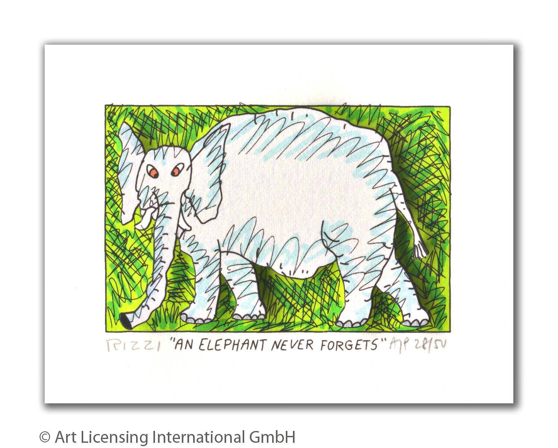 James Rizzi - AN ELEPHANT NEVER FORGETS